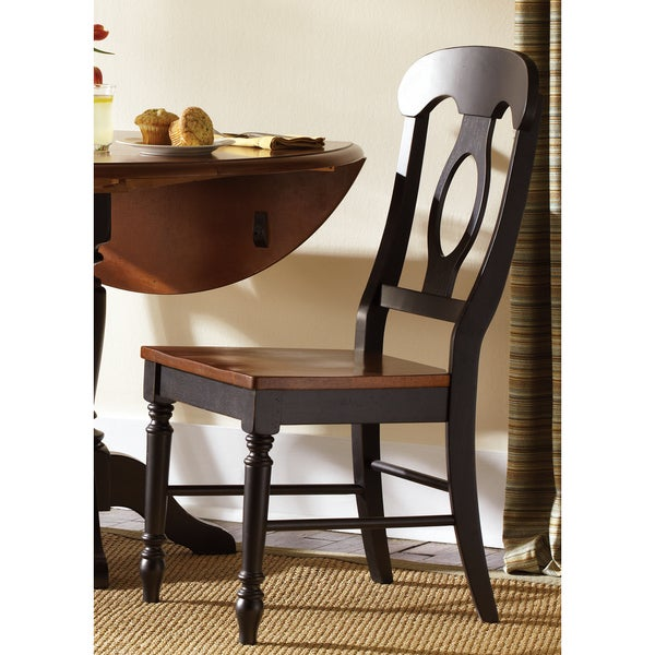 Napoleon Styled Saddle Brown Kitchen Chair: Farmhouse Country Anchor Black And Bronze Napolean Dining