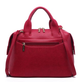 Pink Haley Remi Faux Leather Top-handle Satchel