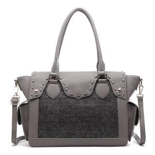 Pink Haley Clio Multicolor Faux Leather Vintage Weave Satchel Handbag|https://ak1.ostkcdn.com/images/products/13108825/P19838076.jpg?impolicy=medium