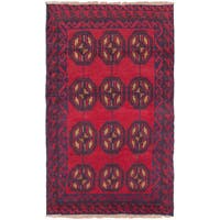 eCarpetGallery Bahor Red Wool Hand-knotted Rug (2'9 x 4'6)