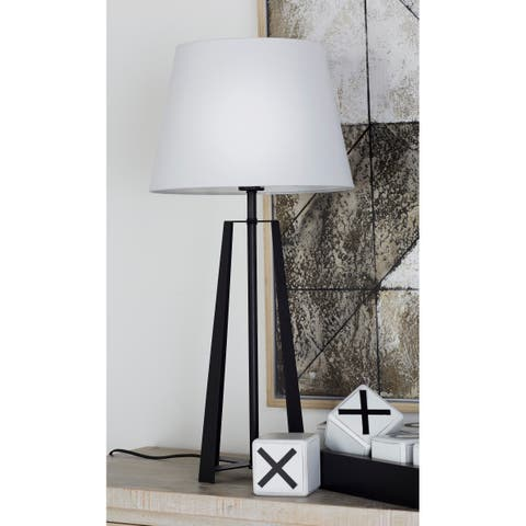 Buy benzara table lamps online at overstock our best lighting benzara enthralling black white metal table lamp aloadofball Image collections