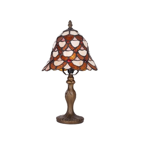 Tiffany-style Stained Glass Shade 8-inch Table Lamps