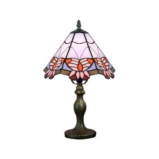 Tiffany-style Pink Butterfly Table Lamp