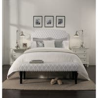 Republic Design House Grosvenor Grey Diamond Pattern Headboard/ Padded Bench Collection