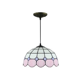 Tiffany-style Stained Glass 12-inch Hanging Lamp