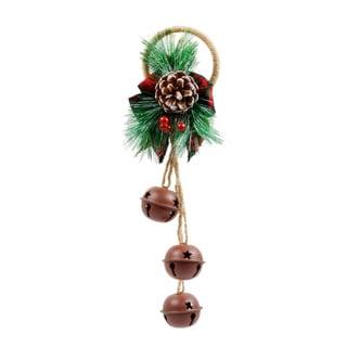 Jingle Bell Fabric/Metal/Plastic Door Hanger