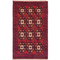 eCarpetGallery Hand-knotted Baluch Red Wool Rug (2'9 x 4'6)