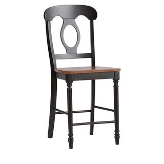 Farmhouse Country Anchor Black and Bronze Napolean Barstool