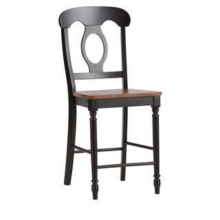 Farmhouse Black and Bronze Napolean24 Inch Counter Height Barstool
