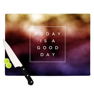 """Kess InHouse Galaxy Eyes """"Good Day"""" Rainbow Cutting Board"""
