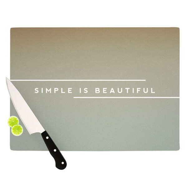 "Kess InHouse Galaxy Eyes ""Simple Beautiful"" Cutting Board"