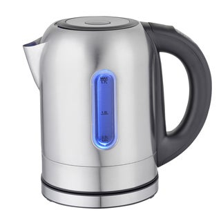 Mega Chef 1.7 liter Stainless Steel Electric Tea Kettle With 5 Preset Temps