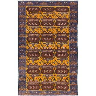 eCarpetGallery Rare War Orange Wool Hand-knotted Rug (2'9 x 4'4)