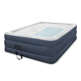 SwissLux Blue Polyvinyl Chloride Premier Queen-size Memory Foam Self-inflating Air Bed