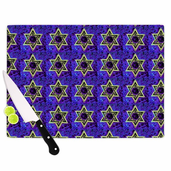 "Kess InHouse Anne LaBrie ""David's Starry Sky!"" Blue Pattern Cutting Board"
