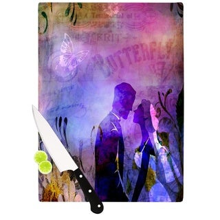 """Kess InHouse alyZen Moonshadow """"Couple In Love"""" Purple Pink Cutting Board"""