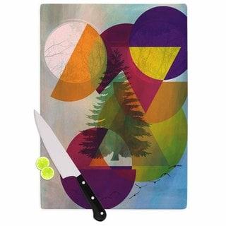 "Kess InHouse alyZen Moonshadow ""HIDDEN FACE"" Multicolor Cutting Board"