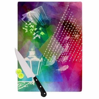 "Kess InHouse alyZen Moonshadow ""ESCAPE"" Purple Multicolor Cutting Board"