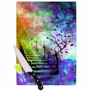 "Kess InHouse AlyZen Moonshadow ""STAIRWAY"" Blue Tree Cutting Board"
