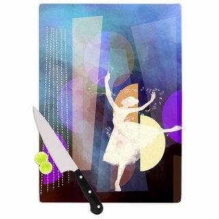 """Kess InHouse alyZen Moonshadow """"BLUE BALLET"""" Purple Geometric Cutting Board"""