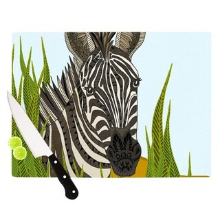 "Kess InHouse Art Love Passion ""Zebra"" Black White Cutting Board"
