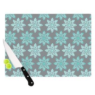 "Kess InHouse Anchobee ""Blue Christmas"" Blue Gray Cutting Board"