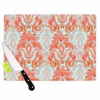 "Kess InHouse Amy Reber ""Baroque"" Orange Pattern Cutting Board"
