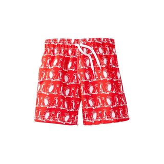 Boy's Red Polyester Freeze Shorts