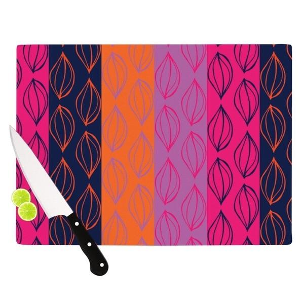 "Kess InHouse Anneline Sophia ""Tropical Seeds"" Pink Orange Cutting Board"