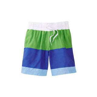 Boys' Multicolored Polyester Block Shorts