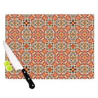 "Kess InHouse Allison Soupcoff ""Henson"" Orange Green Cutting Board"