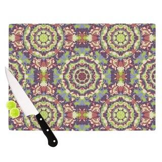 "Kess InHouse Allison Soupcoff ""Plum Lace"" Green Purple Cutting Board"