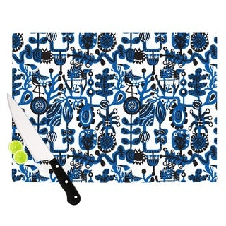 "Kess InHouse Agnes Schugardt ""Dream"" Blue White Cutting Board"