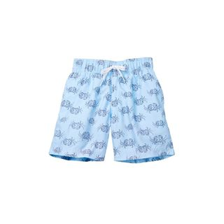 Boy's Blue Polyester Crab Walk Shorts