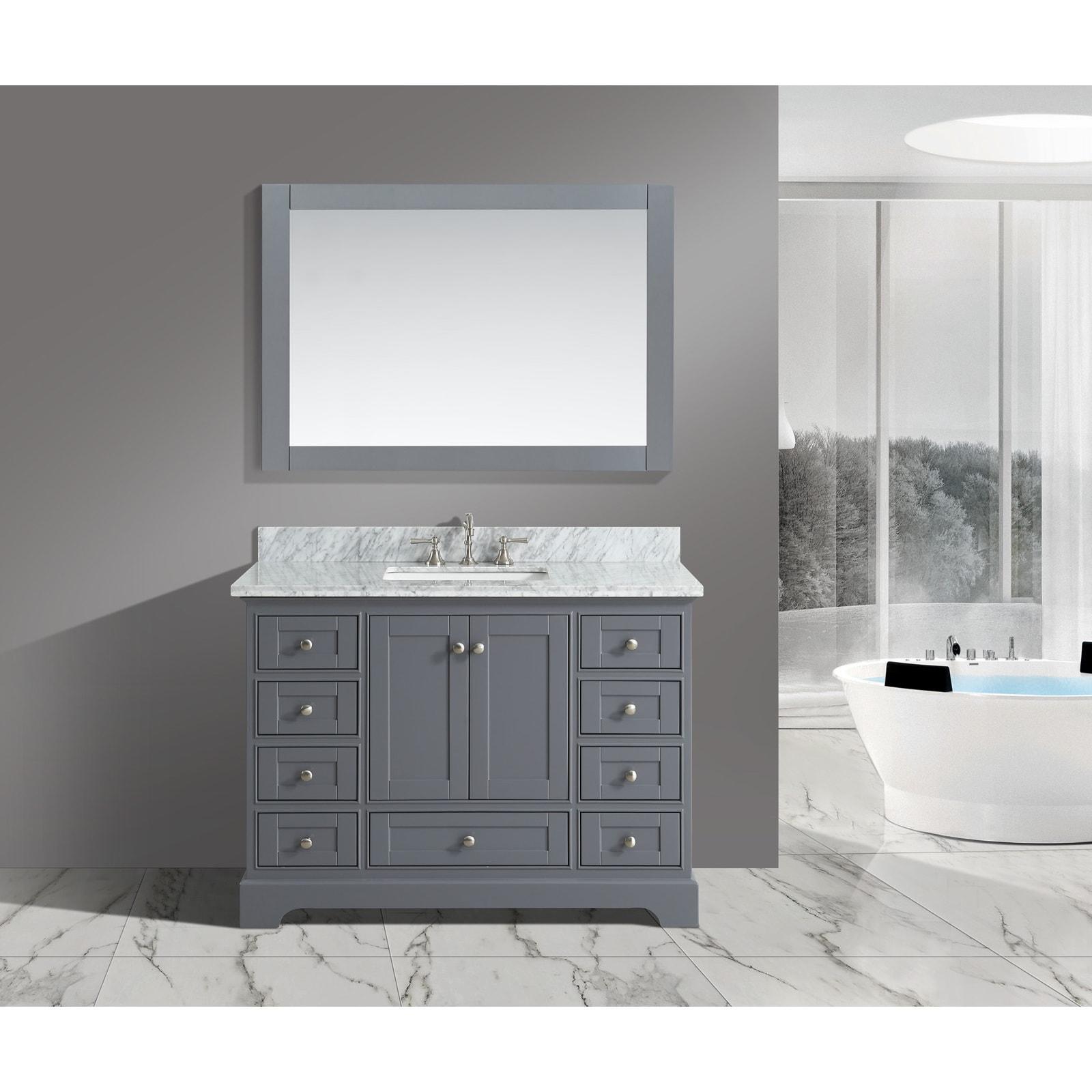 Urban Furnishings Jocelyn Grey Wood 48-Inch Bathroom Sink...