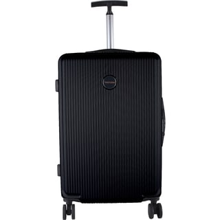 Murano Black ABS/Metal/Nylon 28-inch Expandable Hardside Spinner Suitcase