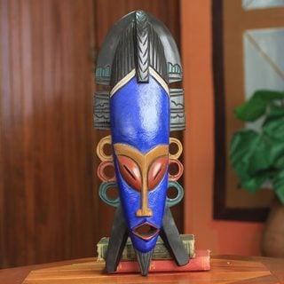 Handcrafted Sese Wood 'Soyeya' African Mask (Ghana)
