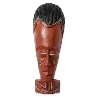 Handcrafted Sese Wood 'Abrantie' African Wall Mask (Ghana)