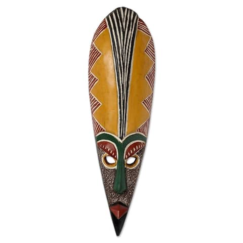 Sese Wood Messenger of Peace African Wall Mask