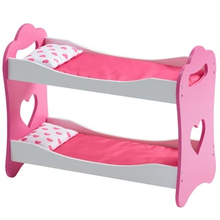 Olivia's Little World Princess of Hearts Pop Pink 18-inch Doll Bunk Bed