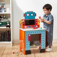 Teamson Kids Little Engineer Foldable Robot Workbench