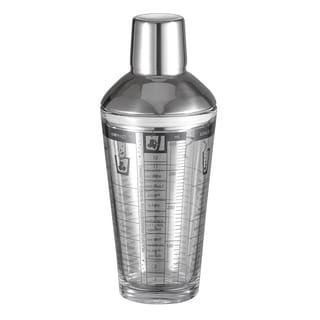 Visol Soiree Recipe Glass Cocktail Shaker - 12oz