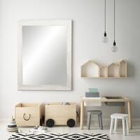 BrandtWorks Coastal Whitewood White/ Grey Wall Mirror - White/Grey