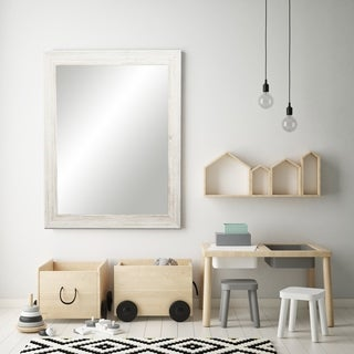BrandtWorks Coastal Whitewood White/ Grey Wall Mirror - White/Grey