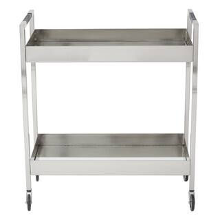 Wilshire Stainless Cart in Brushed Nickel Finish|https://ak1.ostkcdn.com/images/products/13110865/P19842475.jpg?impolicy=medium