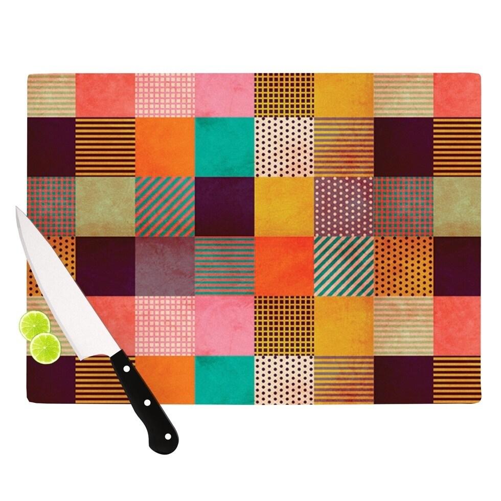 "Kess InHouse Louise Machado ""Decorative Pixel"" Warm Patch..."