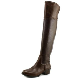 Vince Camuto Women's Baldwin Brown Leather Over-the-knee Boots