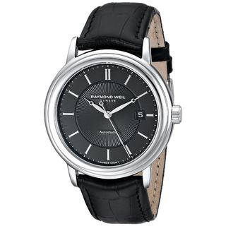 Raymond Weil Men's 2847-STC-2000 'Maestro' Automatic Black Leather Watch