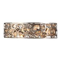 Crystorama Sterling Collection 4-light Distressed Twilight Bathroom/Vanity Light