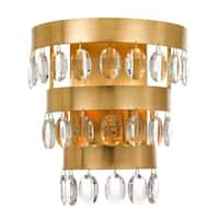 Crystorama Perla Collection 2-light Antique Gold Wall Sconce